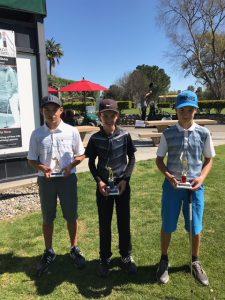 Boys 12-13: Reese Sato, Julian Monas, Zachery Pollo