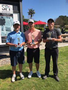 Boys 16-18: Matthew Sutherland, Moses Greene, Bryce Kvick