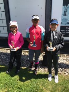 Girls 10-11: Tavia Burgess, Alaythia Hinds, Sabina Han
