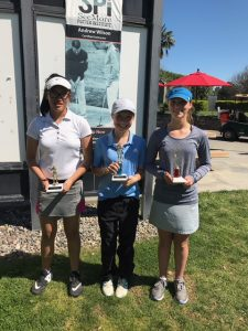 Girls 12-14: Haley Wong, Hannah Harrison, Ellie Bushnell