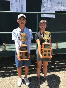 Brian Lee, Overall Boys Champ, Ellie Bushnell, Overall Girls Champ