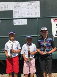 Kailer Stone, Landon Abalateo, Braden Cales, 10-11 Boys