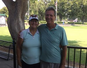 Low Gross winners Jane and Jim Findarle
