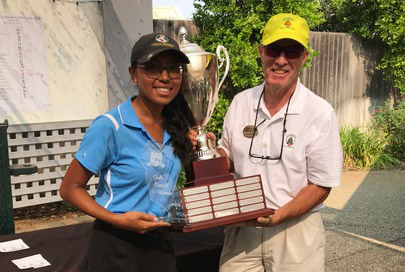 Overall Champ, Anitra Khoth with Tournament Director Larry Glasmire