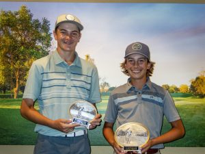 Boys 14-15: Jacob Van Roekel 2nd place, Brady Siravo 1st place
