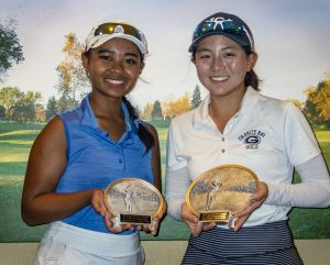 Girls 15-18: Kristen Antonio 2nd-place, Yewon Jang 1st place